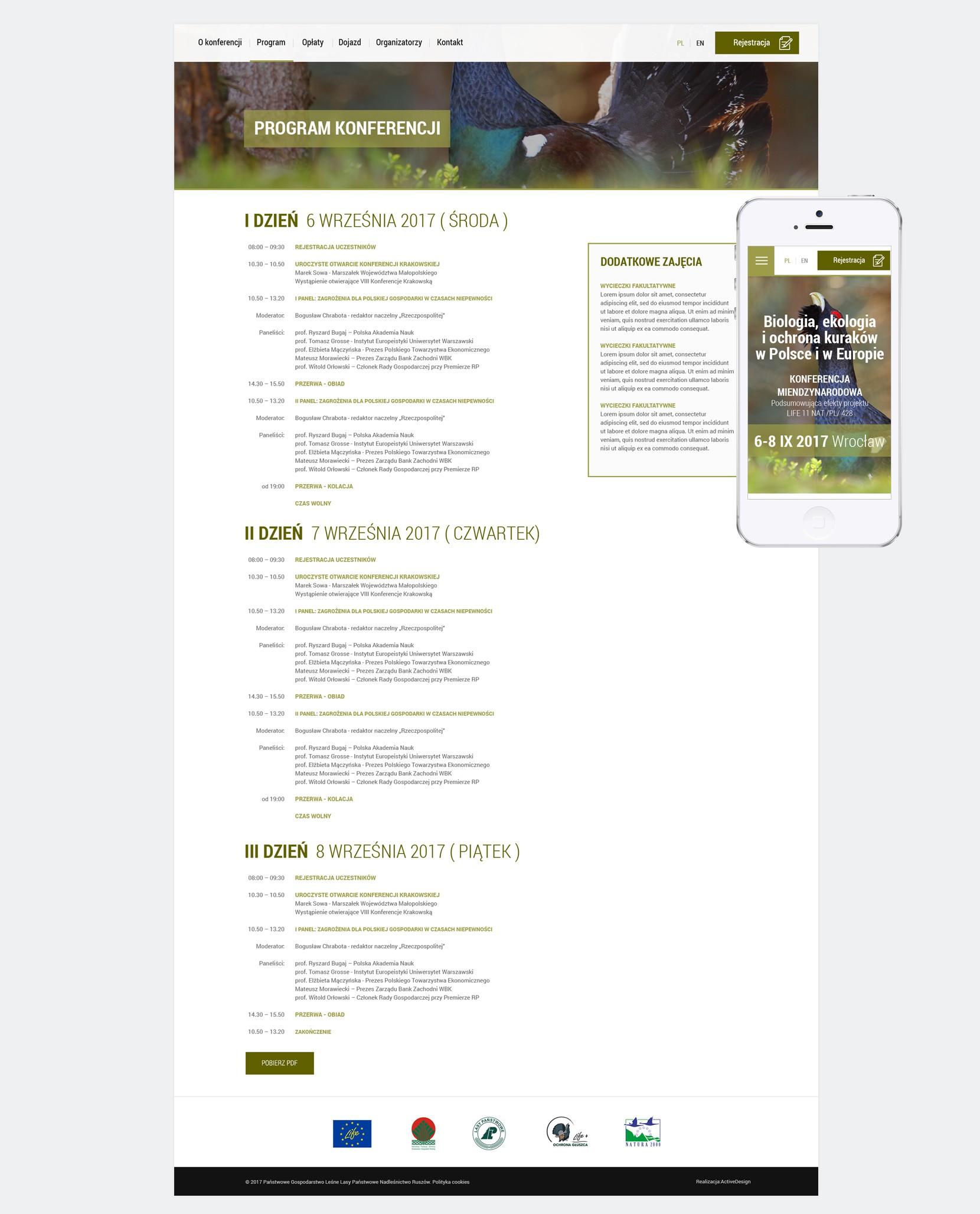 Strona internetowa dla eventów cyklicznych