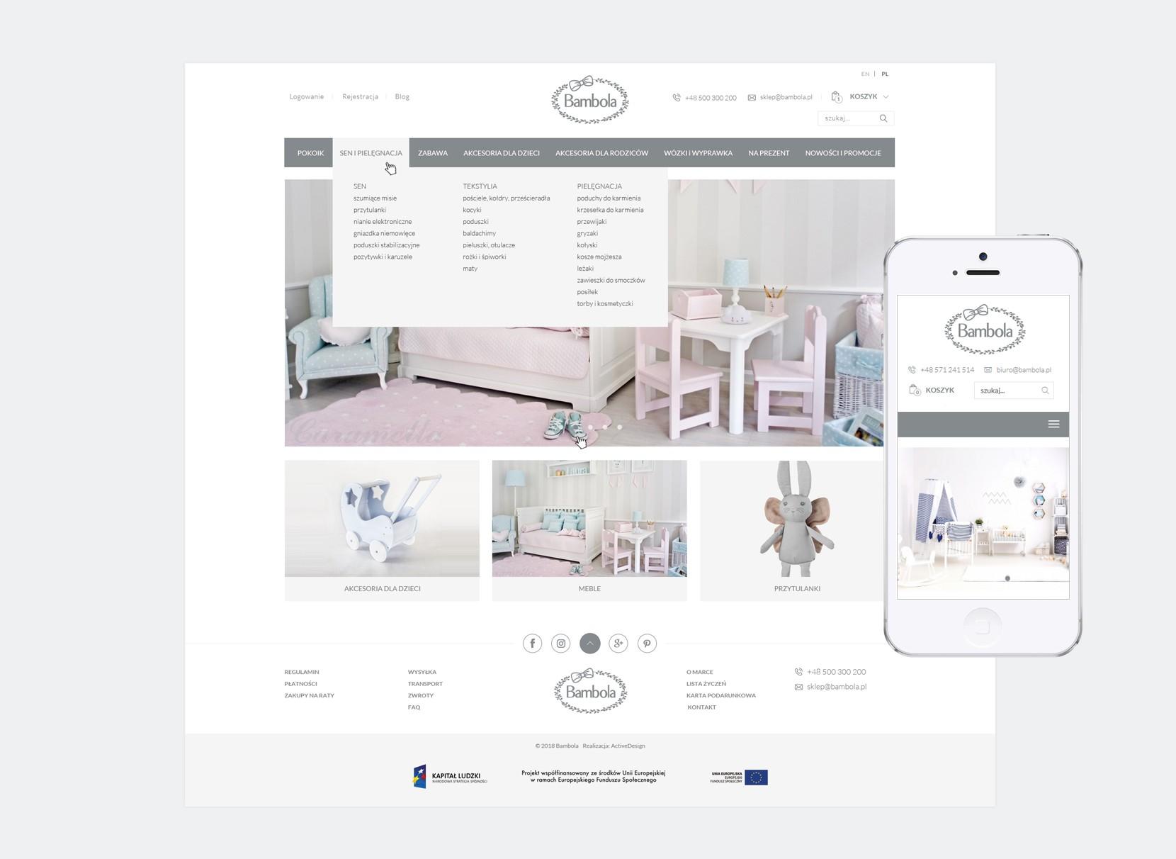 projektowanie sklepów bambola