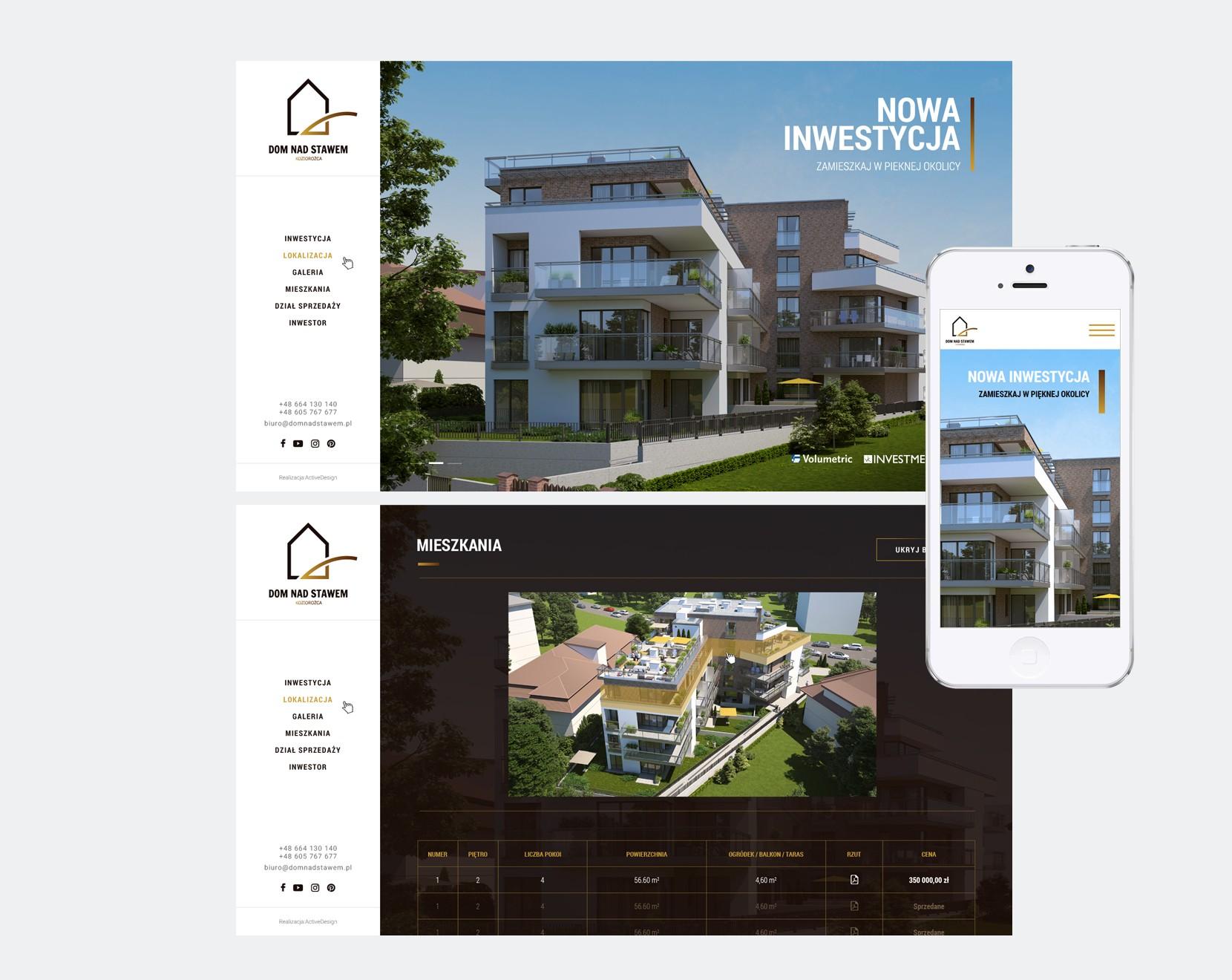 strona internetowa dom nad stawem