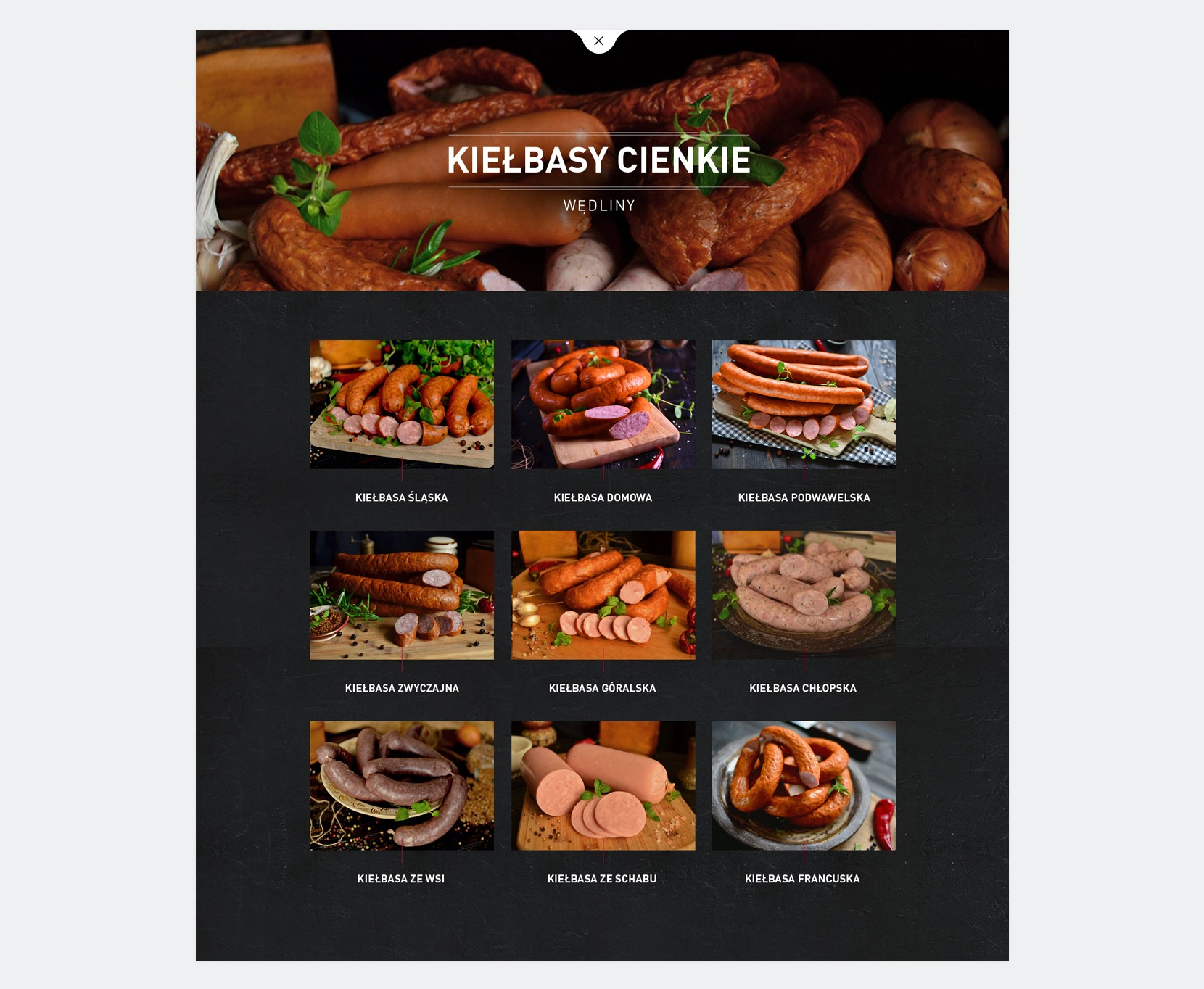 strona internetowa dla zakładu mięsnego