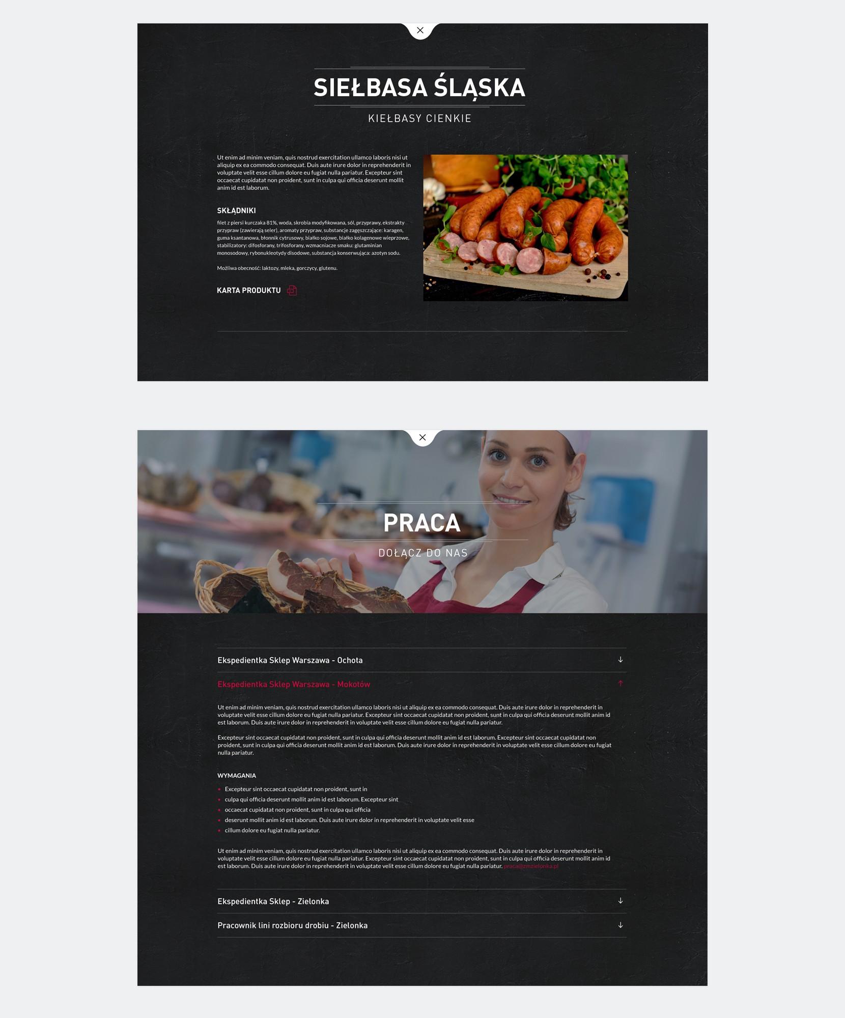 projektowanie stron www zakład miesny